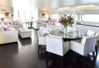 main salon on luxury yacht infinity pacific
