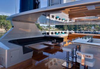 Sun deck with dining on AMARULA SUN