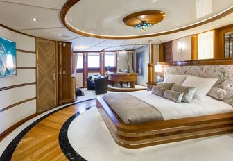master suites exudes nautical glamour on board luxury yacht LEGEND