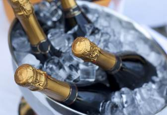 Champagne bottles in bucket of ice at Abu Dhabi Grand Prix