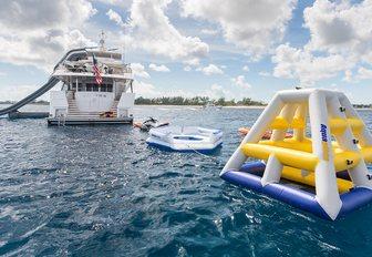inflatable toys on all inn yacht