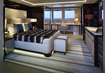 ILLUSION yacht master stateroom