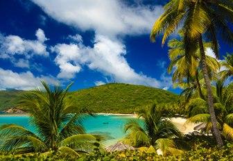 A tranquil sandy beach cove, Virgin Gorda, British Virgin Islands