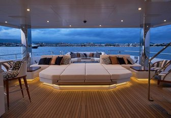The Bannenberg and Rowell designed exterior of superyacht JOY
