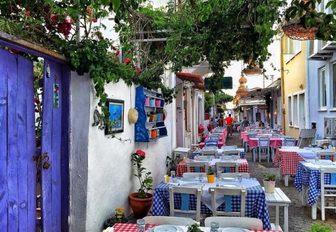 charter streets of Bozcaada, Turkey