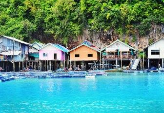 Beach huts Thailand