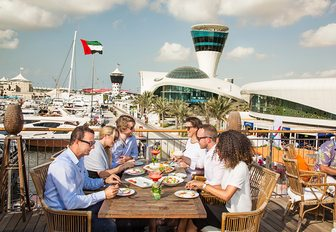 Group of people eating at Diablito in Yas Marina