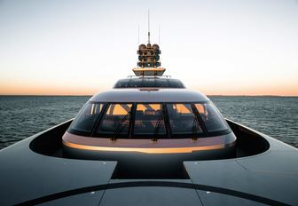 view of the bridge on board luxury yacht 'Silver Fast'