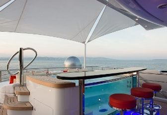 sundeck jacuzzi of charter yacht excellence v
