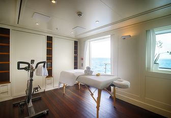 convertible gym and massage room aboard superyacht SENSES