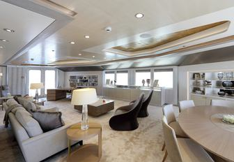 The contemporary interior styling of luxury yacht ULYSSES