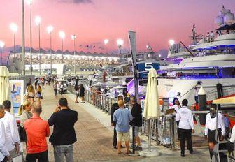 Boardwalks at the Yas Marina during the Abu Dhabi Grand Prix