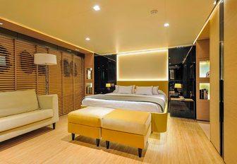 Modern cabin on motor yacht Bertona III