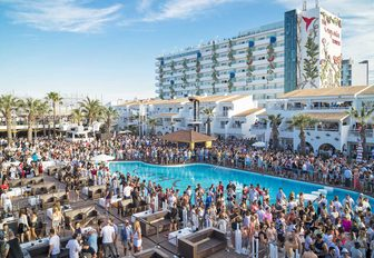 daytime pool party at Ushuaïa Beach Club in Ibiza