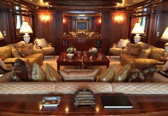 The main salon of luxury yacht APOGEE