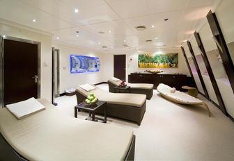 The wellness centre belonging to motor yacht Lauren L