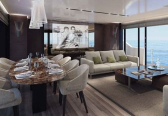 luxury yacht noor ii main salon