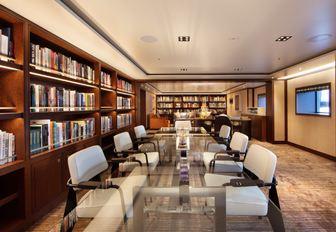 The interior of superyacht 'Cloud Nine'