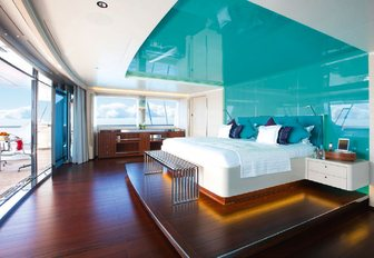 Master cabin on board sailing yacht AQUIJO