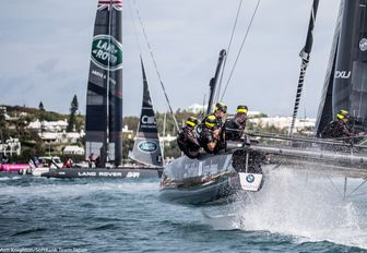 Competitors in action as part of the America's Cup World Series 2017
