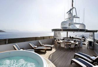 The sundeck of luxury yacht 'Ionian Princess'