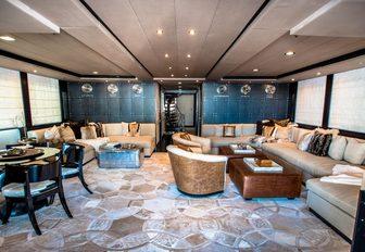 sumptuous, urban-style salon aboard motor yacht 'Plan B'