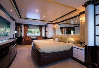 timeless master suite aboard luxury yacht DIANE