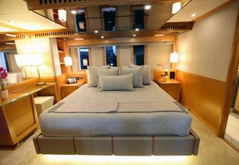 The guest accommodation offered on board the IAG superyacht SERENITY