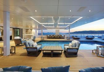The swimming pool featured on luxury yacht ULYSSES