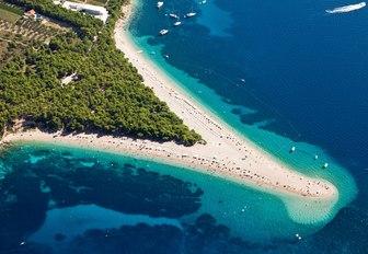 White sandy beach in Croatia