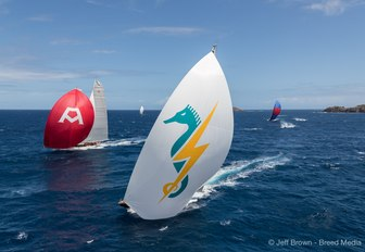 colourful sails at St Barths Bucket 2017