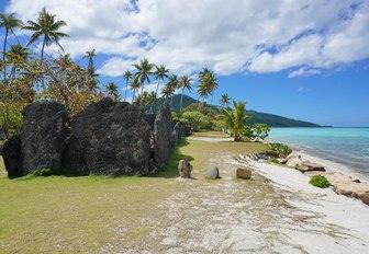 Beach in Huahine, Tahiti
