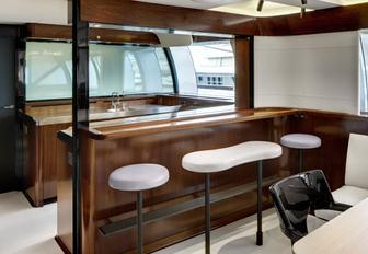 bar area aboard sailing yacht VERTIGO