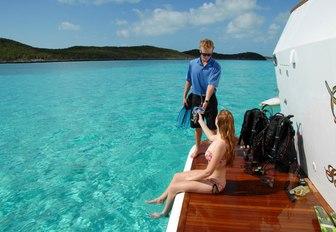 swim platform on superyacht sweet escape