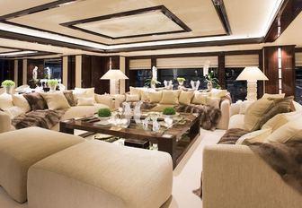 the main salon of luxury yacht Illusion V