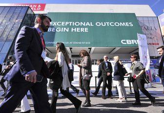 MIPIM delegates outside the Palais des Festival in Cannes