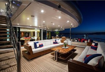 deck area of superyacht excellence v