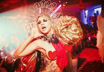 Lady dancing in Ibiza