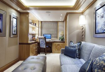Interior area on superyacht from SUCCESSION