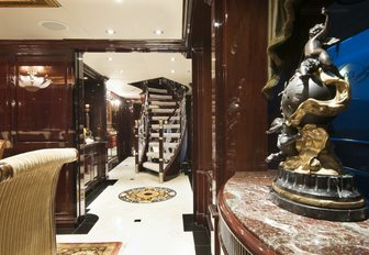 The elegant interior styling of M/Y 'Ionian Princess'