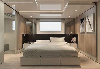 Double bed in cabin on Explorer yacht EMOCEAN