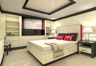 main cabin of superyacht papa