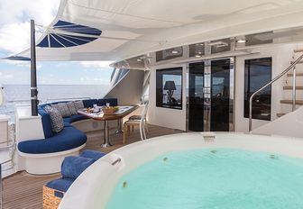 charter guests will spend the majority of their time unwinding in crewed yacht all in spacious aft decks where they can catch some sun and have some well deserved rest and relaxation on their self isolation yacht charter vacation