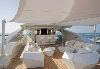 sundeck on board luxury superyacht