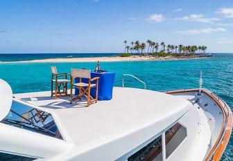champagne set up on luxury yacht alexandra jane