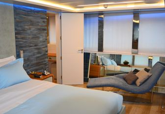 soothing master suite on board luxury yacht 'Barents Sea'
