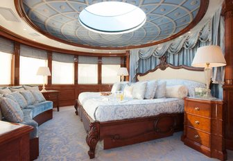 A guest cabin featured on board Benetti superyacht 'St David'