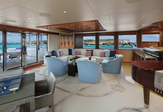 a fomal social area located on the main salon aft of charter yacht time for us