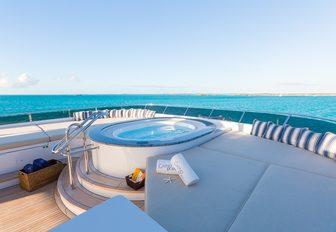 jacuzzi and sunpad spread on luxury yacht casino royale