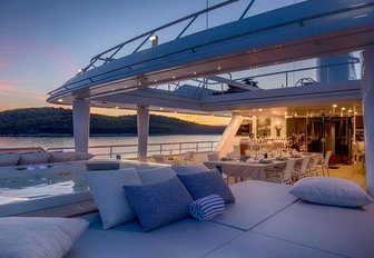 aft decks of luxury yacht katina